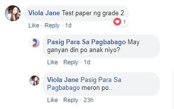 Test paper comment