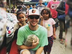 Tom Kuegler with kids