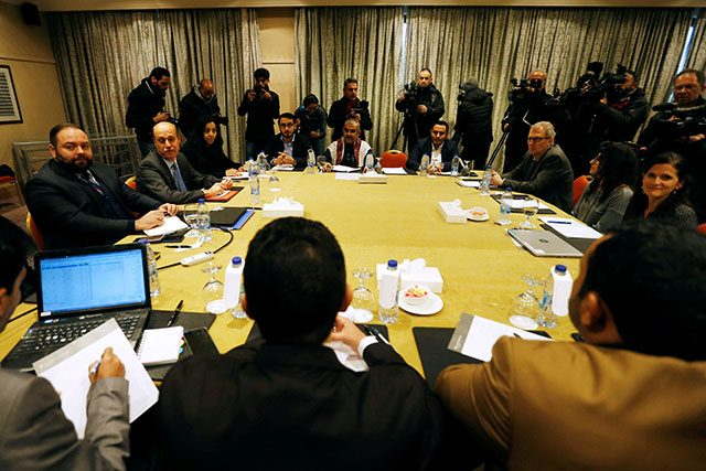 Delegates from the Iran-aligned Houthi movement and the Saudi-backed Yemeni government meet to discuss prisoner swap deal in Amman
