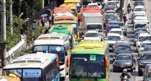 Buses along EDSA