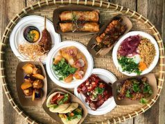 Filipino food in small plates