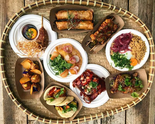 Filipino food in small plates