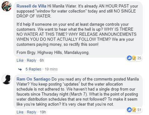 Manila Water complaints