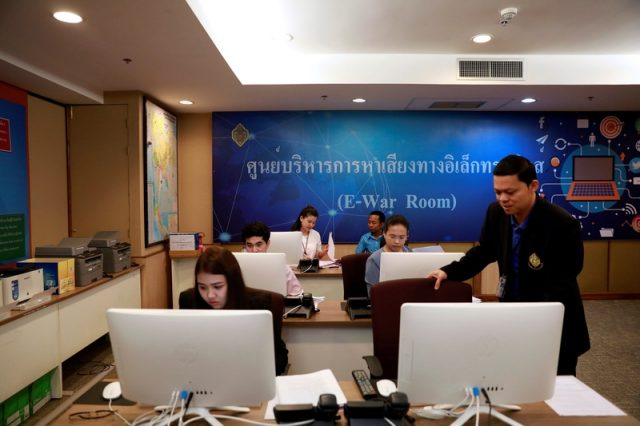 Thailand social media monitoring elections war room