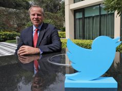 Colin Crowell, Twitter's Global Vice President of Public Policy, poses for a photograph at a hotel in New Delhi