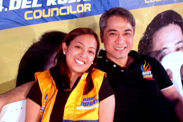 Abby Binay with Luis Campos