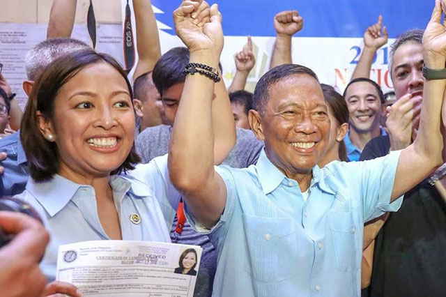 Abby with Jejomar Binay