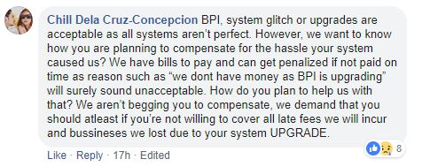Comment 1 from BPI problem story