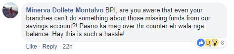Comment 2 from BPI problem story