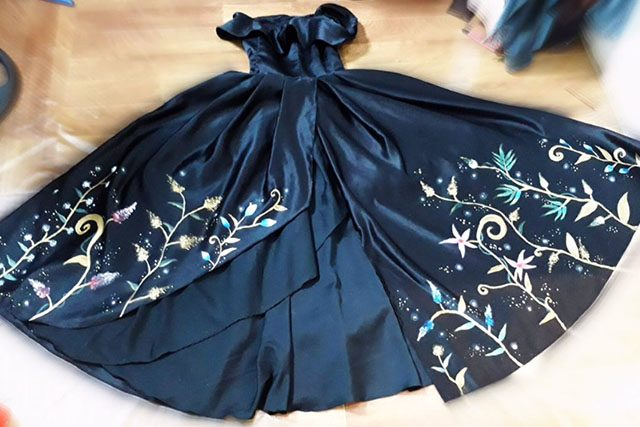 Hand painted gown by Tisha
