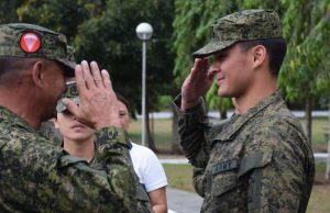 Matteo Guidicelli graduated from military reservist training