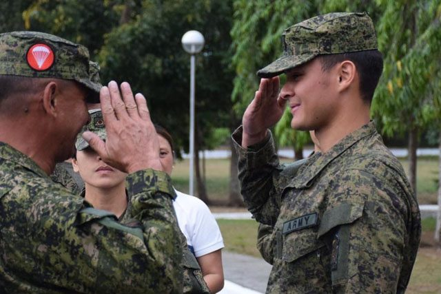 Matteo Guidicelli in the Army