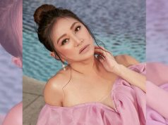 Rufa Mae Quinto by the pool
