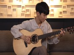 Sungha Jung with a guitar