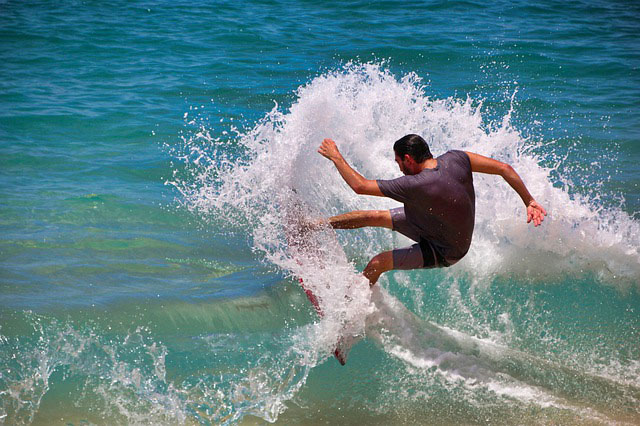 Surfer in the waves