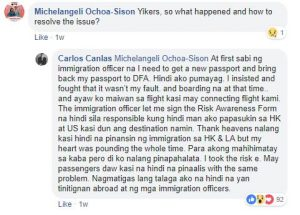 Departure headache for Filipino whose passport had wrong pagination