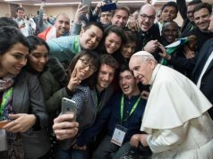 Pope Francis with young people