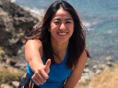 Gretchen Ho giving a thumbs up