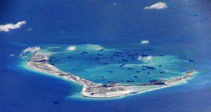 Mischief Reef in Spratly Islands