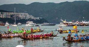 Dragon boat race in Hong Kong