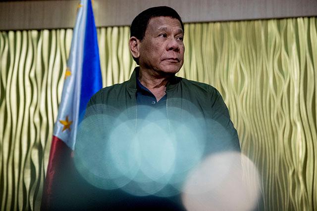 President Rodrigo Duterte at the Colonel Jesus Villamor Air Base