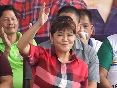 Imee Marcos waving at crowds