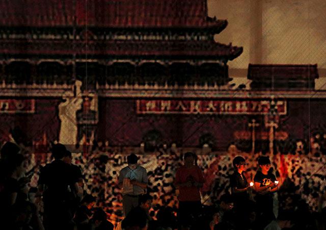 Tiananmen Square in 1989