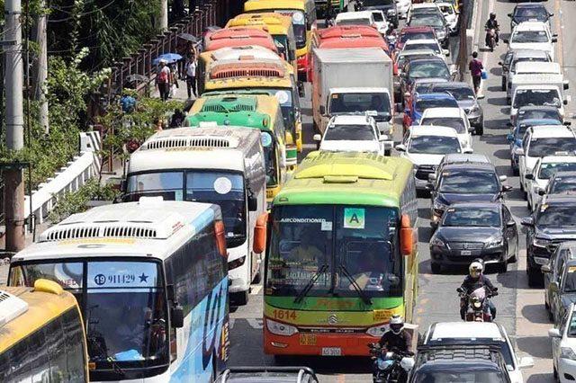 Buses in EDSA