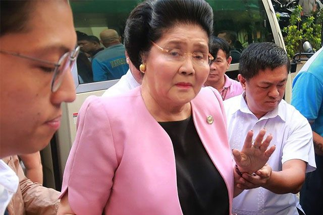 Imelda Marcos filing notice of appeal