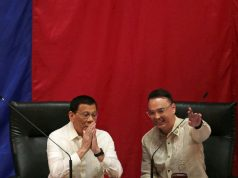 Duterte with House Speaker Cayetano