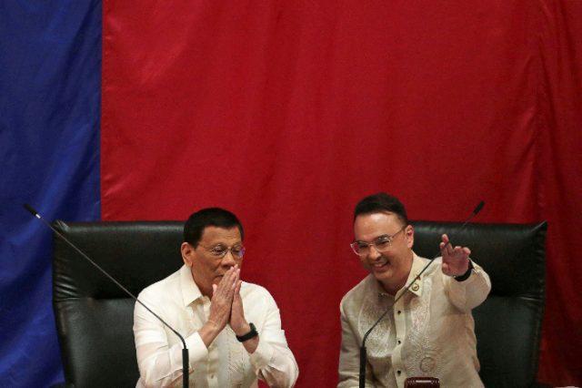 Duterte with House Speaker Cayetano