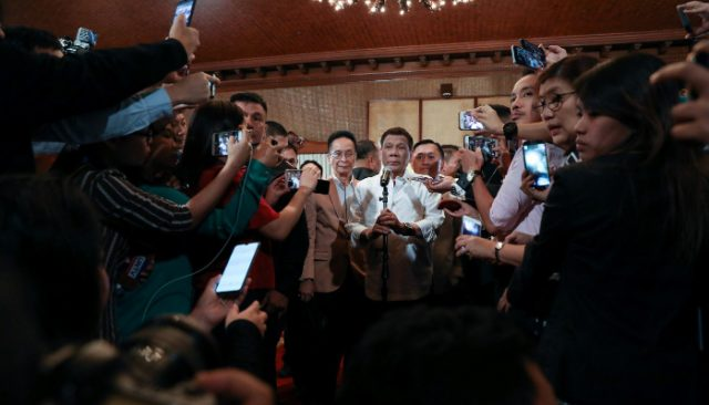 Duterte at presser