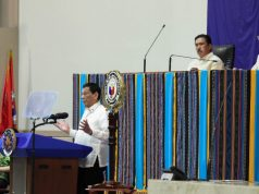 Backdrop for Duterte's 2019 SONA