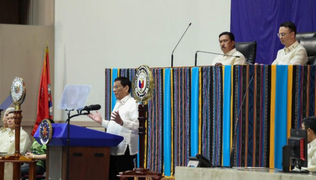 Backdrop for Duterte's 2019 SONA