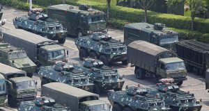Military vehicles in Shenzhen