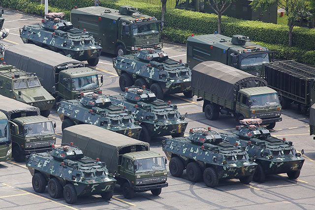 Military vehicles in Shenzhen