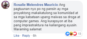 Comment from Rizal post