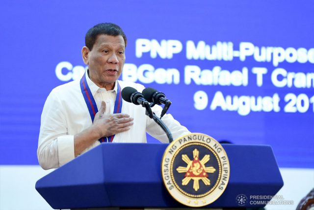 Duterte at 118th Police Service Anniversary