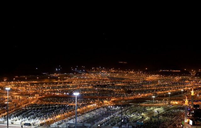A general view of camps for pilgrims where they stay during the annual haj pilgrimage is seen in Mina