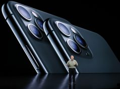 Phil Schiller presents the new iPhone 11 Pro at an Apple event at their headquarters in Cupertino