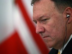 U.S. Secretary of State Mike Pompeo attends lunch with counterparts China, Britain, Russia and France, the permanent five veto-wielding members of the U.N. Security Council.