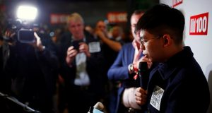 "Hong Kong's activist Joshua Wong attends ""Bild 100"" event in Berlin"
