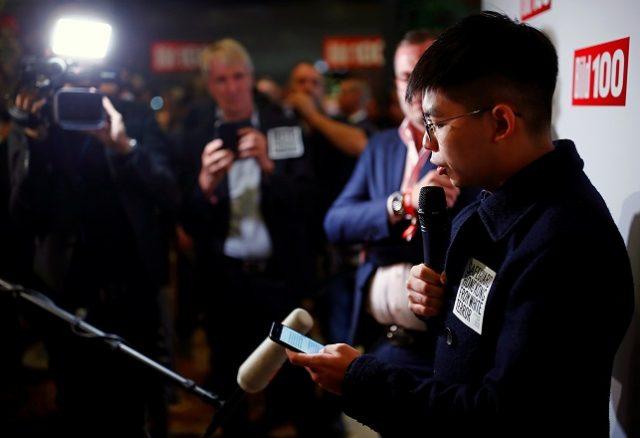 Hong Kong's activist Joshua Wong attends