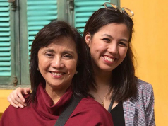 Leni and Tricia Robredo