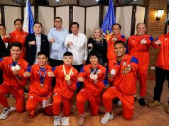 Athletes with Duterte