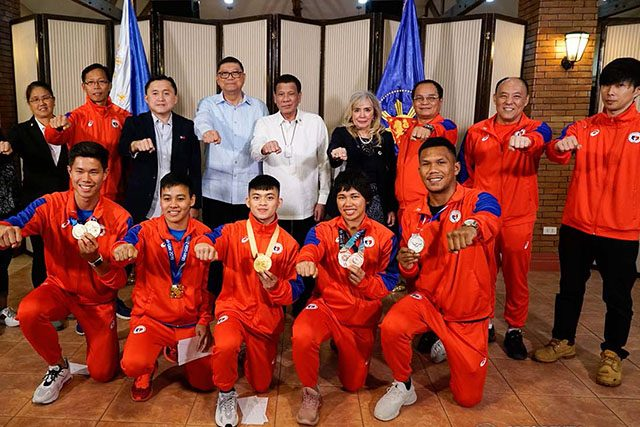 Athletes with Duterte