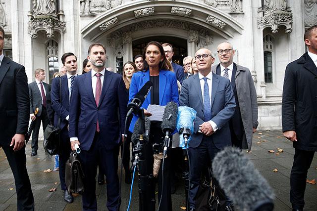 Gina Miller at British Supreme Court