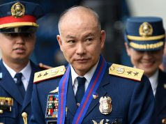 FILE PHOTO: Incoming Philippine National Police Chief Oscar Albayalde arrives for the National Police chief handover ceremony in Camp Crame