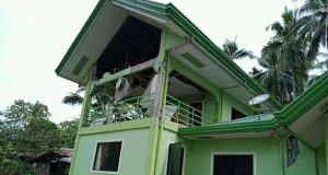 A damaged local town hall is seen in Mabini, Davao Del Sur, Philippines after a magnitude 6.6 earthquake struck