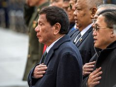 President Rodrigo Duterte attends a wreath laying ceremony at the Tomb of the Unknown Soldier in Moscow